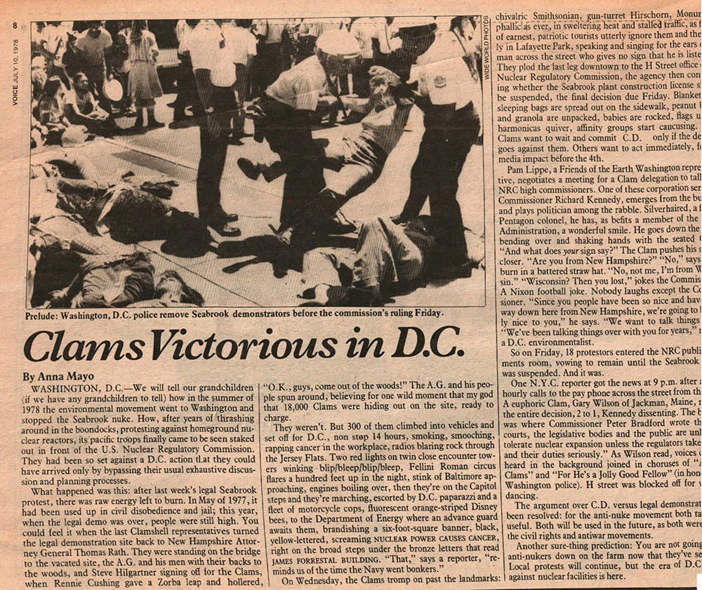 10th July 1978 - Article in the Village Voice